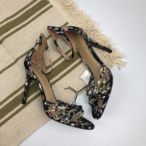 Who What Wear size 8 floral heels